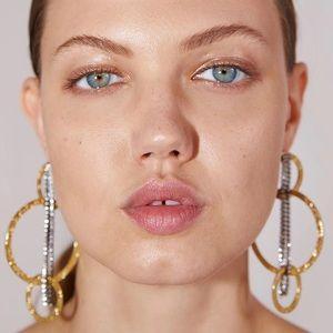 ZARA Hoop & Chain Oversized Gold Silver Earrings